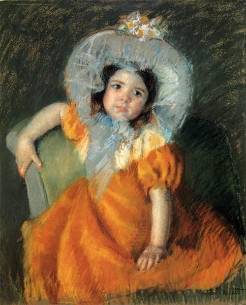Child In Orange Dress